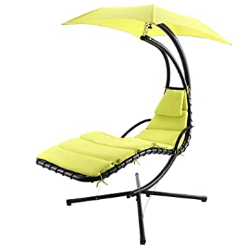Keland 300 LBS Capacity Hanging Chaise Sun Lounger Chair Air Porch Hammock  Swing Chair Stand With