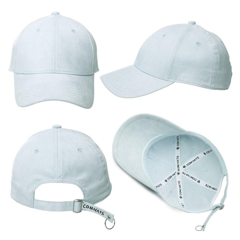 Siggi Unisex 6 Panels Faux Suede Baseball Cap Solid Adjustable Premium Sports Visor Hat Hip Hop Girls Boys Hat 9 Colors 55-61CM
