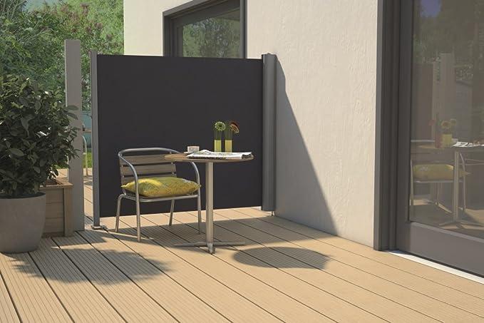 Toldo Lateral (2ª generación hasta 200 cm de altura (300 cm de ancho), color: antracita; tamaño: 160 x 200: Amazon.es: Jardín
