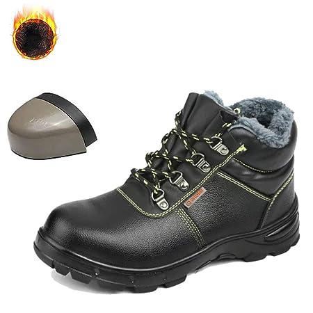 JIEFU Zapatos de Seguridad para Hombres Botas de Trabajo ...