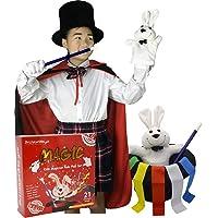 BrilliantMagic Kids Magician Role Play Set with Magic Cape Set Top Hat Rabbit Magic Wand Magic Tricks Kit for Kids Magic Set Box Magician Magic Kit Magic Trick Kit Cool Magic Suitcase Best Magic Set Ideal Magic