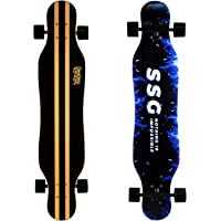 DINBIN 41 Inch Drop Through 8 Ply Maple Complete Longboards Skateboard,Cruising,Freeride Slide,Freestyle and Downhill…