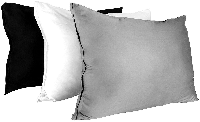 Utopia Bedding Premium Cotton Zippered Pillow Cases - 2 Pack (Queen, Grey) - Elegant Double Hemmed Stitched Pillow Encasement by Utopia Bedding (Image #5)