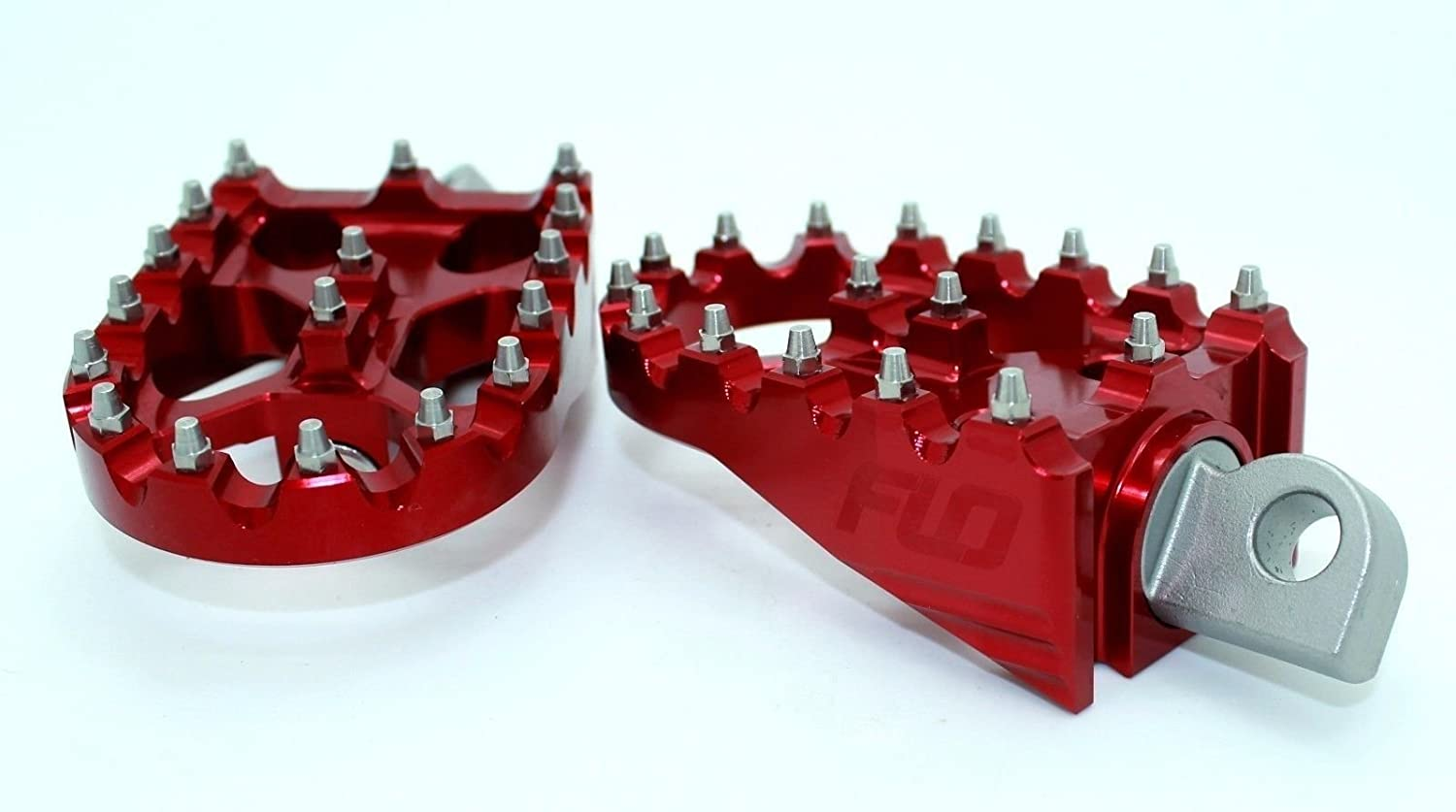 Red FLO MOTORSPORTS MX STYLE HARLEY DAVIDSON DYNA FOOT PEGS
