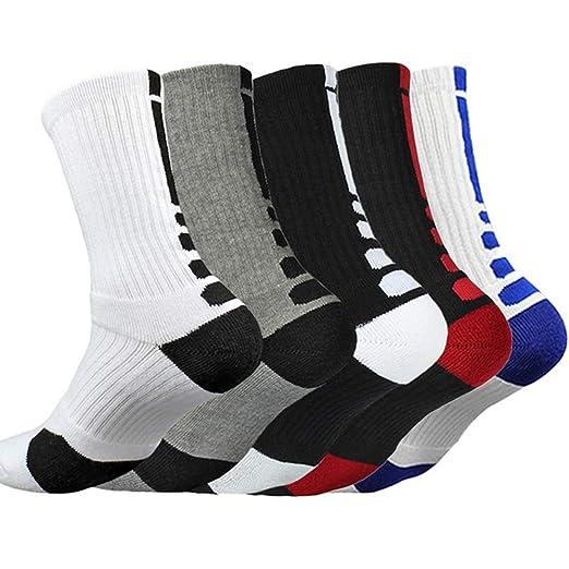RainBabe Hombre Calcetines de Baloncesto Calcetines ...