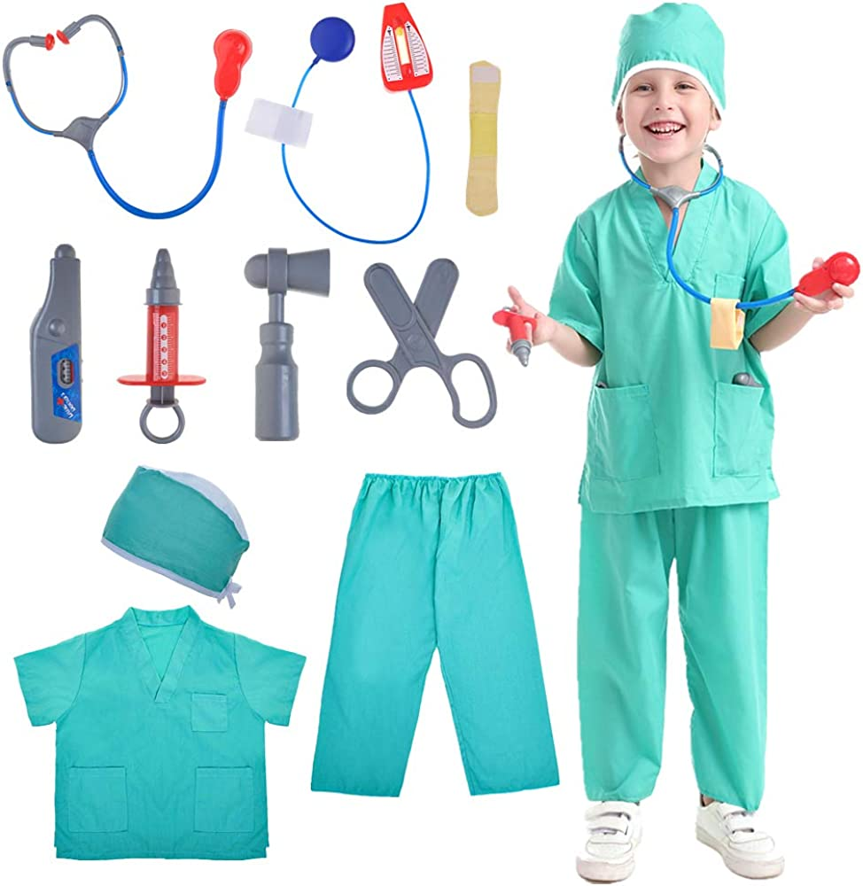 TOPTIE Kid's Role Play Set, Dress Up Costumes Set for Kids, Great Gift Idea