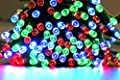 LED SopoTek Solar Powered Long LED Lights String Christmas Lights 72ft 22m 200 LED 8 Modes Solar Fairy String Lights for Outdoor, Gardens, Homes, Wedding, Christmas Party, Waterproof (200 LED Multi-color)