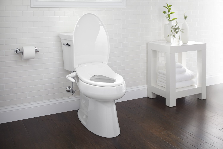 Toilet Pret Spel : Kohler k puretide elongated manual bidet toilet seat white