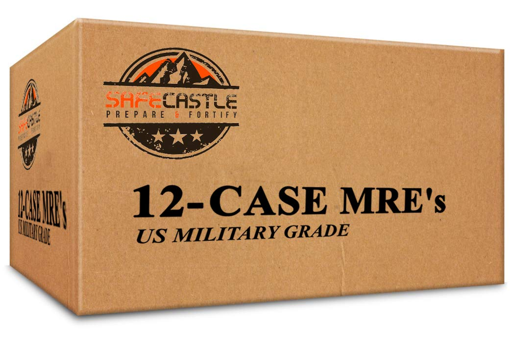 MRE's Meals Ready To Eat Military Emergency Food- 12 Case MRE Survival Meals Military Surplus Alternative Meal Kit. Perfect For Go Bag, Emergency Food Rations, Hunting Food, Backpacking Or Prepper Sup
