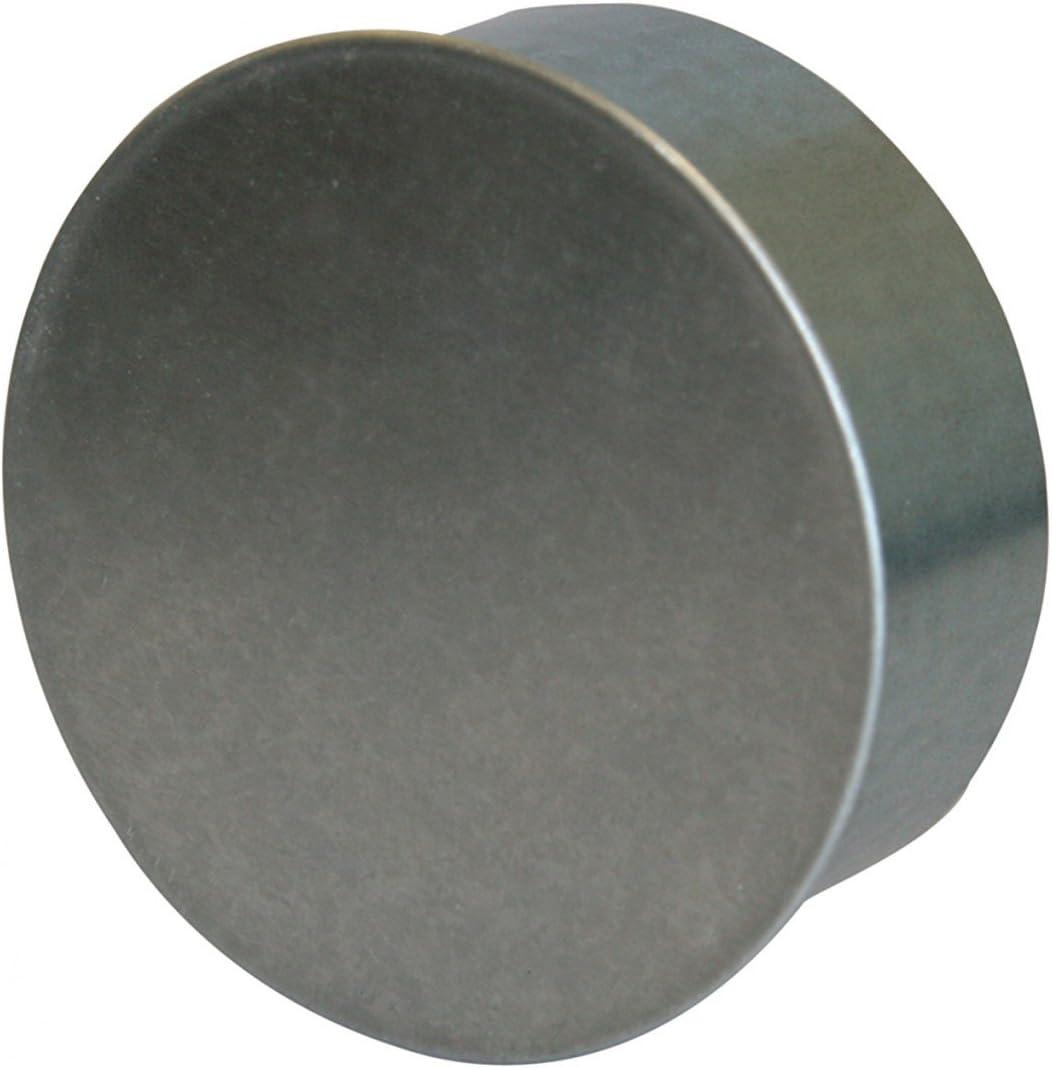Kamino - Flam – Tapa para tubo de chimeneas, estufas y hornos de leña – acero con revestimiento de aluminio - Ø 180 mm – resistente a altas temperaturas