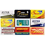 Astra-Derby-Shark-Voskhod-Bolzano-Treet 50 Quality Double Edge Razor Blades Sampler (9 different brands)