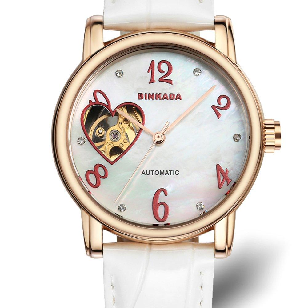 Ladies automatic mechanical watches/ fashion strap watch/ love cut waterproof women's table-B