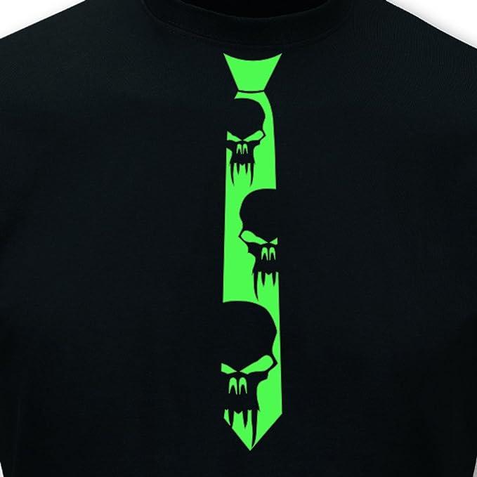 Corbatas Camiseta de Vampiro Calavera Neon Negro/Neon Verde L Sol ...