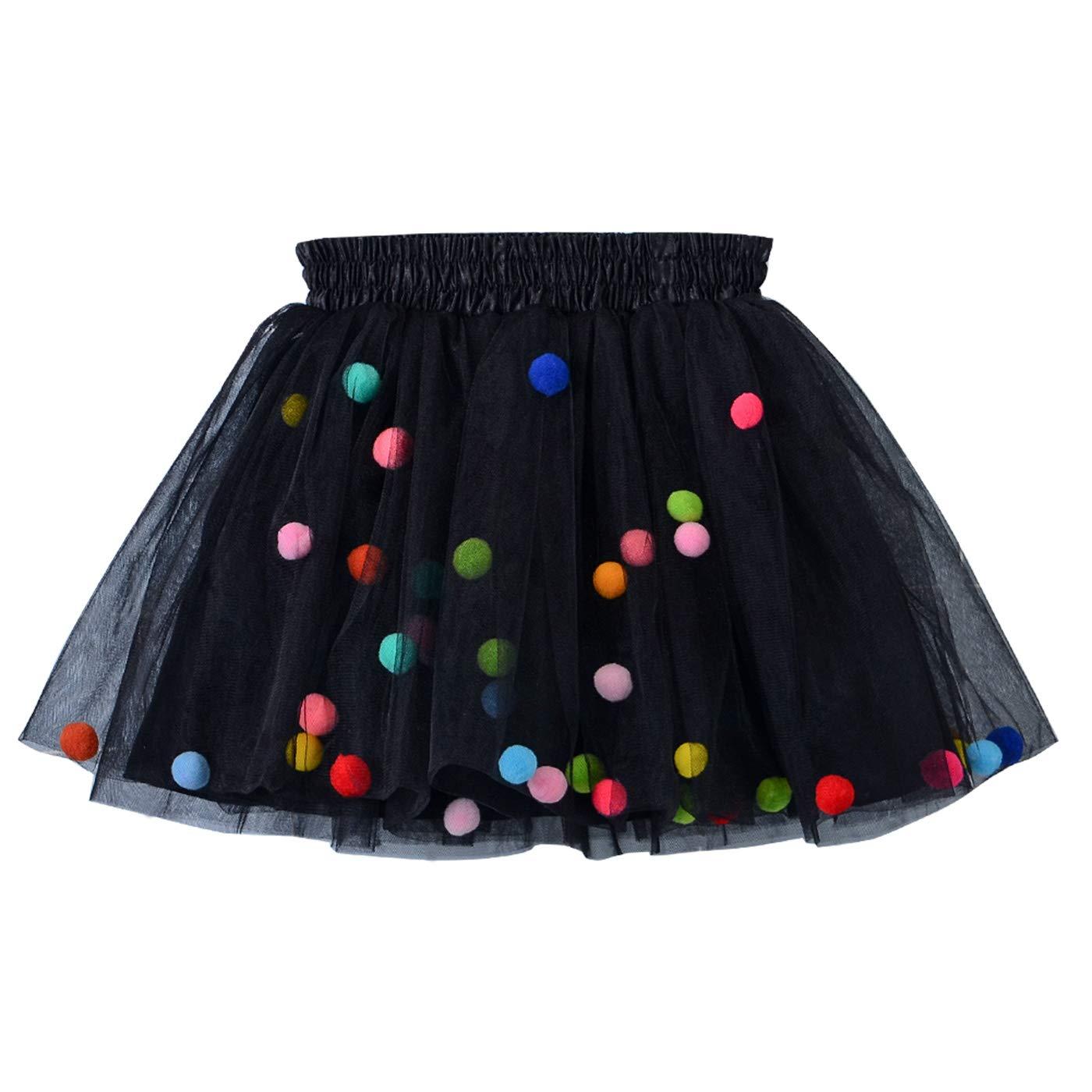 Happy Cherry Baby Girls Tutu Skirt Layered Ruffled Princess Ballet Dance Dress 1-10 T