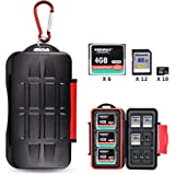 Kiorafoto 36 Slots Professional Water-Resistant Anti-Lost Storage Holder Memory Card Case Protector Wallet for 6 CF & 12…