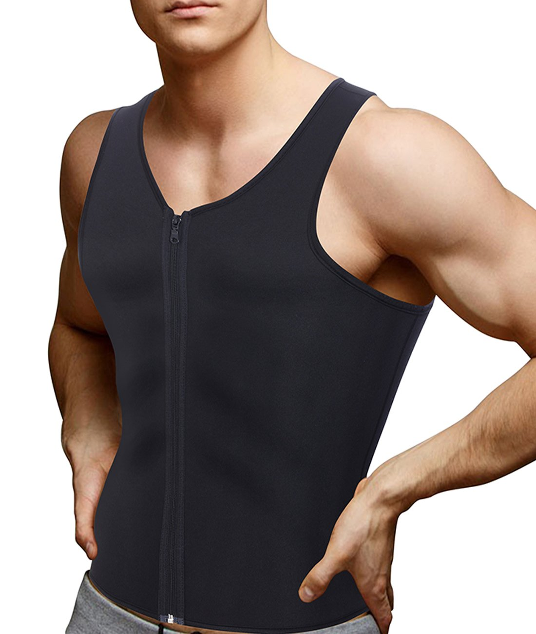 Men's Body Shaper Sauna Vest Neoprene Tank Top Weight Loss, Burn More Fat and Produce Heat for Workouts Shapewear