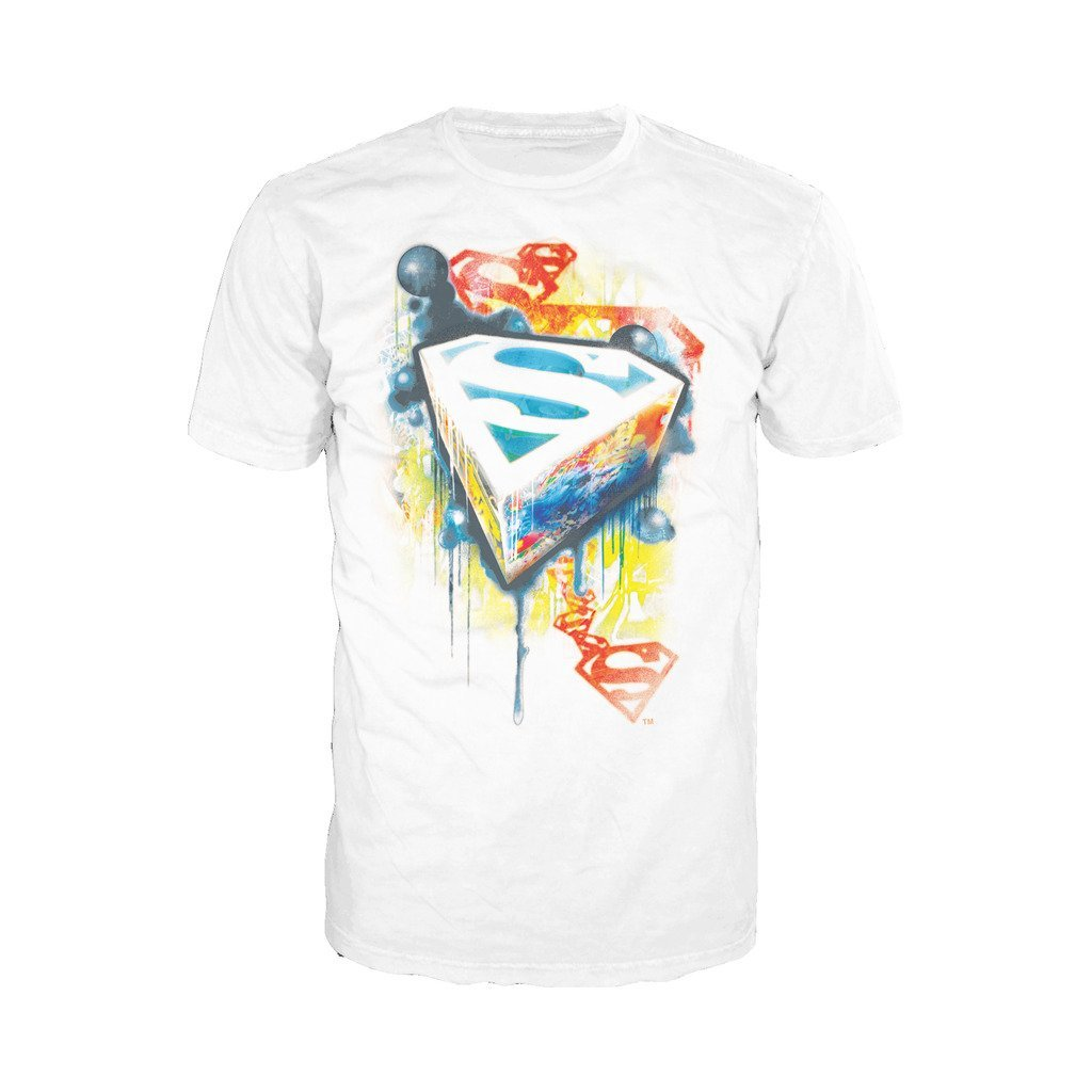 Amazon com urban species dc comics superman graffiti official mens t shirt white clothing