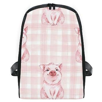 CVDGSAD Pink Beauty Pig Bookbag Bolsas de Hombro para ...