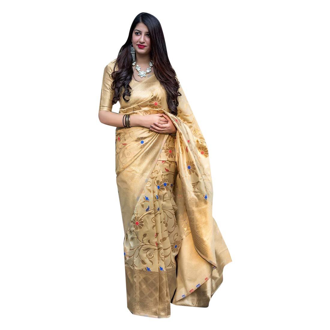Silk Saree Collection With Blouse Piece Light Weight Indian Sari 7392
