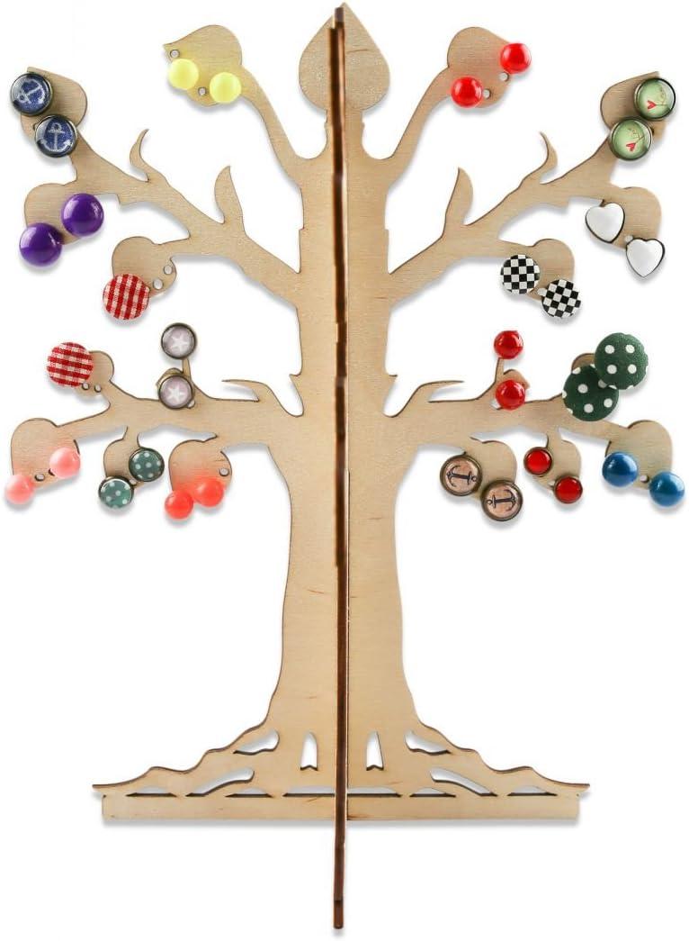 Schmuckbaum aus Metall und Bambus Schmuckständer für Ketten Ohrringe Armbänder