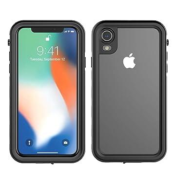 iPhone Xr Carcasa Waterproof Casefirst [Certificado IP68] [a prueba de agua] [ultrarresistente] completa con protector de pantalla incorporado Funda ...