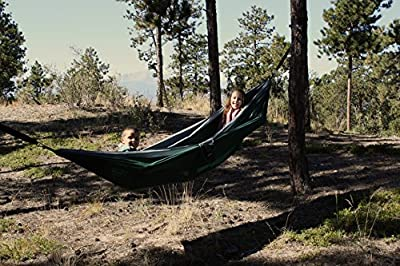 Double Parachute Nylon Hammock Bundled with Tree Straps - Big Enough for Two People - Doubles as a Bed and the Most Comfortable Chair You Have Ever Experienced.
