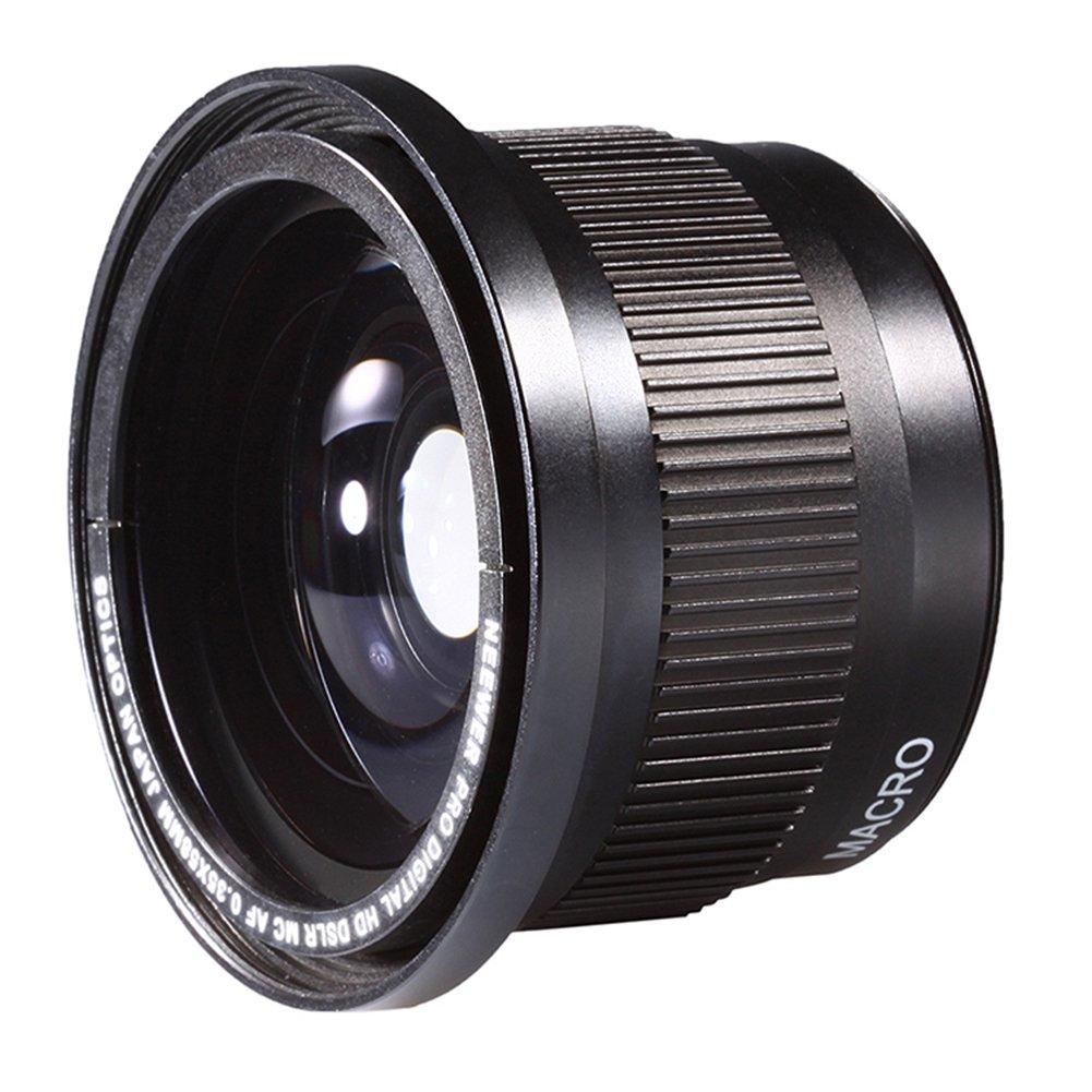 Neewer 58 mm 0.35 x Super lente gran angular ojo de pez w/Macro ...