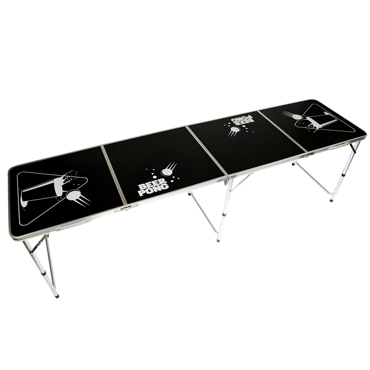 Oypla Official Size 8 Foot Folding Beer Pong Table BBQ Drinking Party 3154OYP