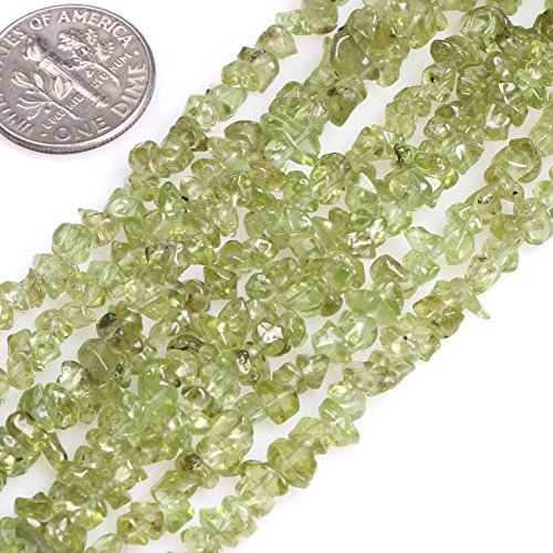 GEM-inside Peridot 3-4mm Green Chips Natural Beads Gemstone Beads Energy Stone Power For Jewelry Making 34 Inches