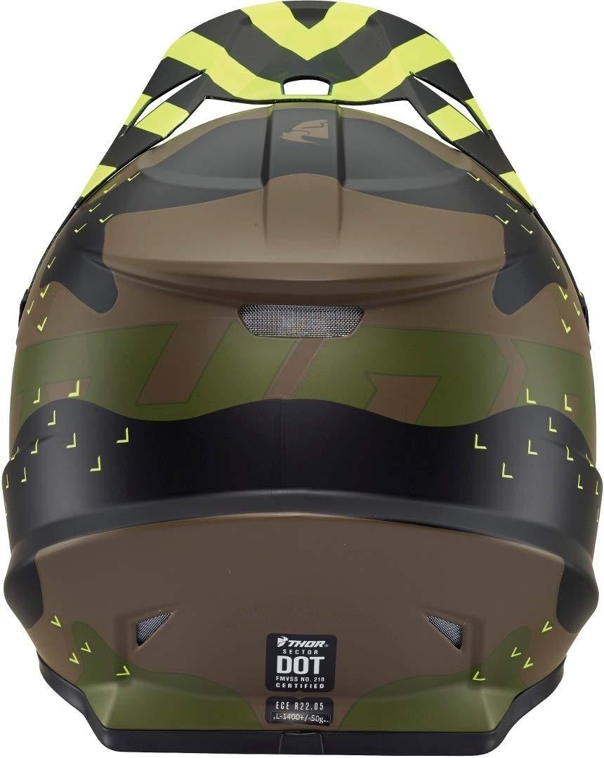 61//62 Thor Sector Mosser Motocross Helm Gr/ün//Schwarz XL