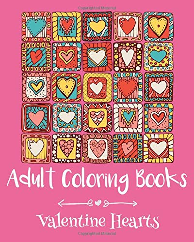 Adult Coloring Books Valentine Hearts Emma Andrews