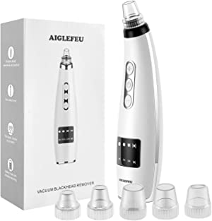 Blackhead Remover Vacuum - Electric Blackhead Suction Devices USB Rechargeable Pore Facial Skin Cleaner Extractor Tool Kit with 5 head and 5 speed for Men & Women