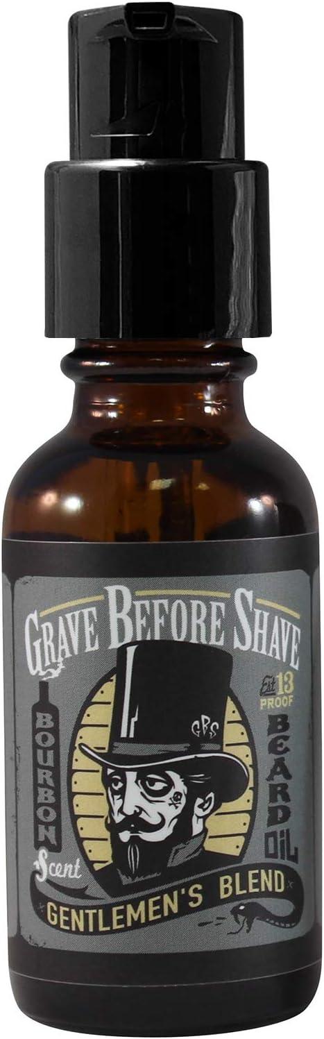GRAVE BEFORE SHAVE™ Gentlemen's Blend Beard Oil (Bourbon/Sandal Wood Scent)