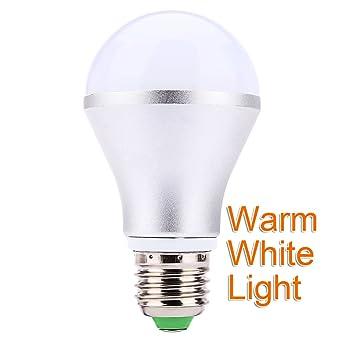 Caliente E27 inteligente 10 W 800LM RGB LED cambio de color de la bombilla lámpara regulable luz redondo farol con ...