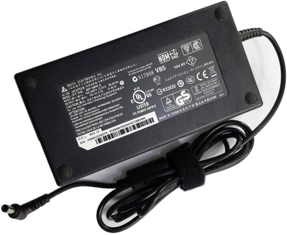 Laptop Charger for Asus 180W Gaming ROG Strix Hero II GL503VE GL703GE FX503 FX504 G501JW G501VW GL503 GL552VW G750JW G750JX G750JM GL551 GL752VW G751JL FX504 G75 G75VW G75VX Adapter Power Supply