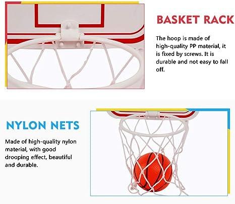 Minicanasta de Baloncesto para ni/ños Montaje en Pared con Ventosa y Pelota para ni/ños y Amantes de Baloncesto Zebroau Color Aleatorio
