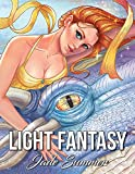 #9: Light Fantasy: An Adult Coloring Book with Princesses, Unicorns, Mermaids, Fairies, Elves, Wizards, and Dragons