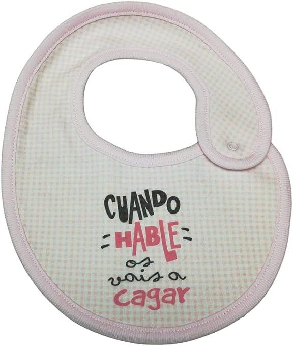 BABERO ALGODON FRASE. Cuando hable os vais a cagar.REGALO BEBE. REGALO RECIEN NACIDO: Amazon.es: Bebé