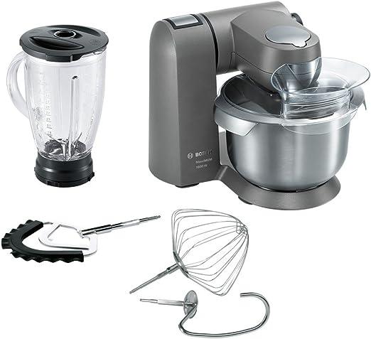 Bosch MUMXL20G - Robot de cocina (5,4 L, Gris, 1,25 L, 1,1 m, Acero inoxidable, Metal): Amazon.es: Hogar