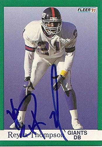 Reyna Thompson autographed Football Card (New York Giants) 1991 Fleer #320 - NFL Autographed Football Cards