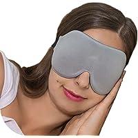 ComfyMed® Sleep Mask CM-EM17 - Best Night and Travel 3D Eye Mask for Men and Women (Grey)