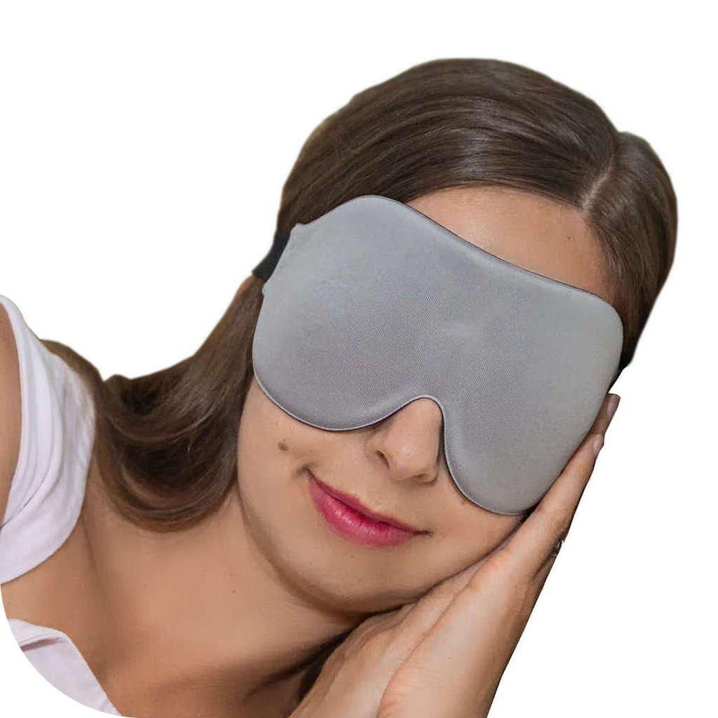 ComfyMed Sleep Mask CM-EM17 - Best Night and Travel 3D Eye Mask for Men and Women (Grey)