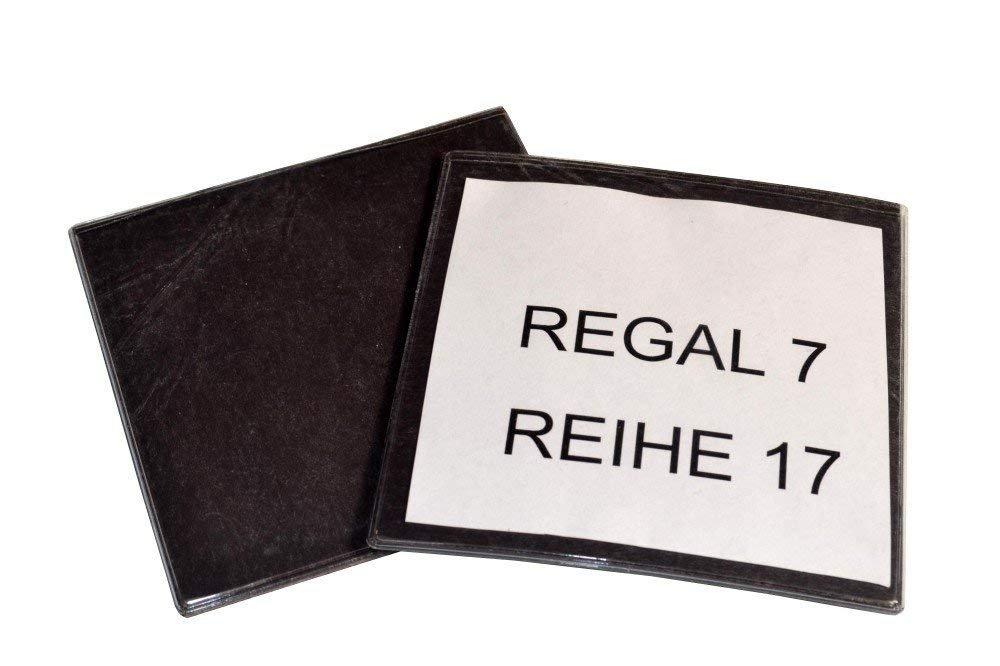 Cartellini magnetici per etichettare armadi cassetti scaffali e altri mobili di metallo Buste e tasche magnetiche Dimensioni: 10cm x 6cm 50 pezzi 50 x Porta etichette magnetiche per scaffali