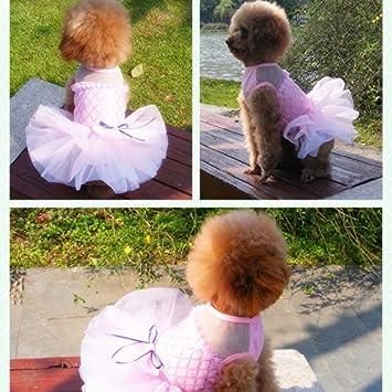 Zaote Pet cucciolo di cane gatto gonna principessa Dress Pet wedding gonna Bowknot maglia paillette gonna