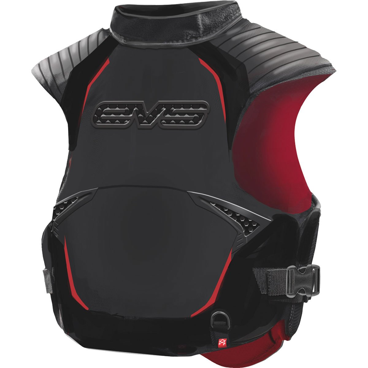 EVS SV2 Pro Trail Adult Snowmobile Protective Gear - Black/Red / Medium/Large