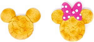 Mickey Mouse Butter Cookie and Minnie Mouse Cookie Novelty Kitchen Refrigerator Magnet (2 Pack)
