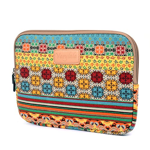 Varylala Canvas Fabric Laptop Sleeve Case Bag for Microsoft Surface 2 Surface Pro and Sony Xperia Tablet Z Asus Transformer Prime/Asus MeMO Pad Smart 10 Acer Iconia A3 (Bohemian Pattern, 10.8 inch)