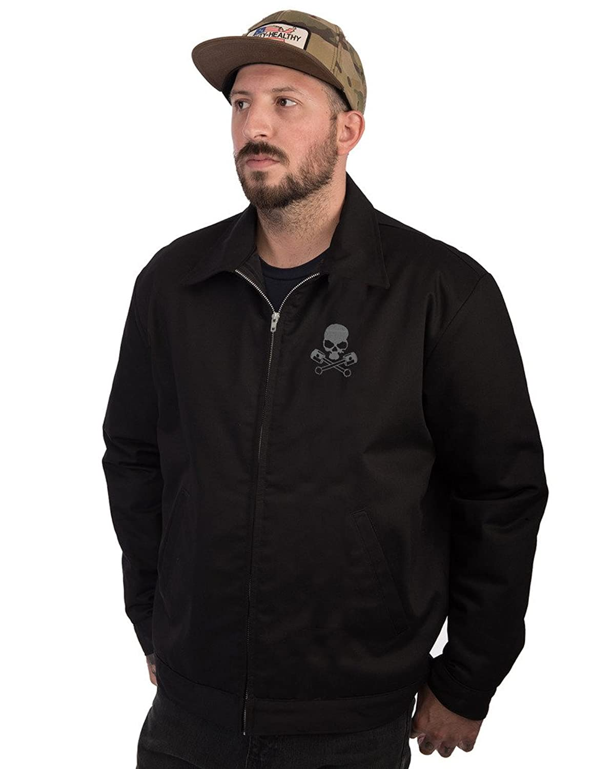 Men's Vintage Style Coats and Jackets Racing Rebels Jacket Black $97.99 AT vintagedancer.com