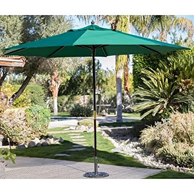Backyard 11ft Patio Umbrella Shade Cover Market Sun Heat Wave Cool Garden Furniture Home -  - shades-parasols, patio-furniture, patio - 61YhOksmItL. SS400  -