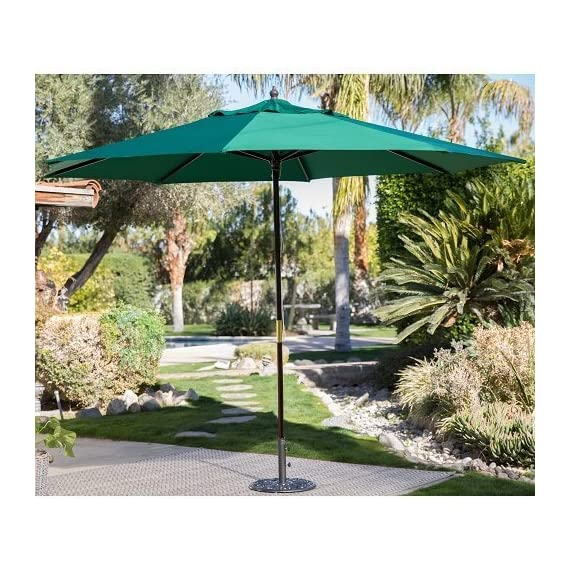 Backyard 11ft Patio Umbrella Shade Cover Market Sun Heat Wave Cool Garden Furniture Home -  - shades-parasols, patio-furniture, patio - 61YhOksmItL. SS570  -